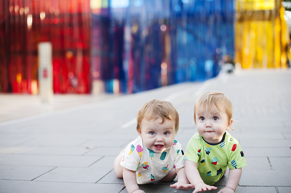Twin babies at the Southbank